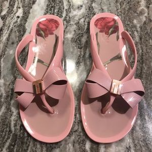 Ted Baker Pink Bow-Tie Sandals